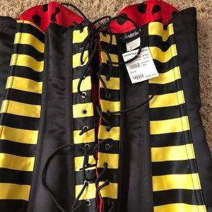 Reversible ladybug/bumblebee corset